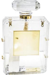 Clutch Real Arte Perfume Transparente.
