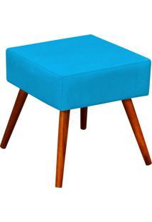 Puff Decorativo Lymdecor Lívia Suede Azul Claro