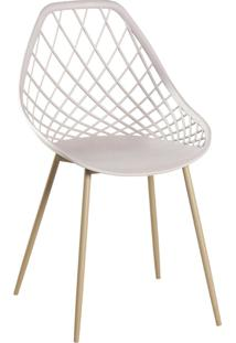 Cadeira Cloe Base Aã§O Rivatti Off-White - - Dafiti