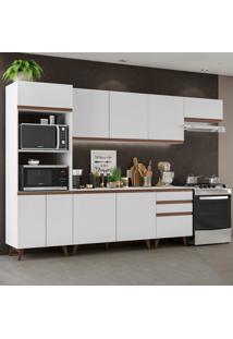 Cozinha Completa Madesa Reims 320001 Com Armã¡Rio E Balcã£O - Branco Branco - Branco - Dafiti