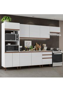 Cozinha Completa Madesa Reims 320001 Com Armário E Balcão - Branco Branco