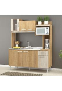 Cozinha Compacta Angel 6 Portas E 1 Gaveta Cc90 Carvalho/Blanche - Fellicci
