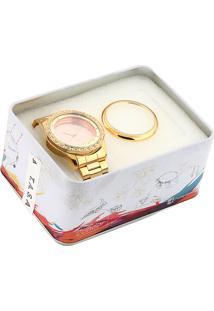 Relógio Condor Co2035Kurk4T Dourado/Rosa