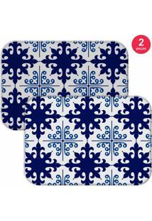 Jogo Americano Love Decor Ladrilho Blue Azul - Kanui