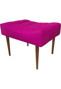 Puff Decorativo Requinte Capitonê Suede Pink - D'Rossi
