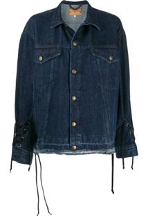 Mcq Alexander Mcqueen Jaqueta Jeans Com Ajuste - Azul