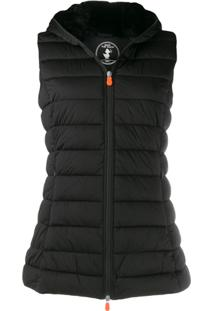 Save The Duck Padded Zip-Front Gilet - Preto