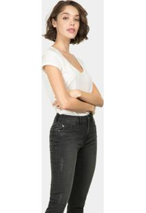 Calça Jeans Skinny Cropped Bali Preto Reativo - Lez A Lez