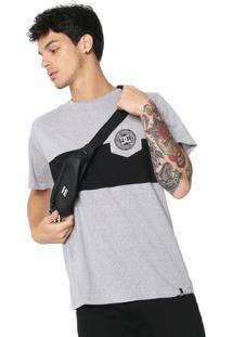 Camiseta Dc Shoes Rebel Block Cinza/Preta