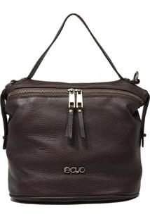 Bolsa Em Couro Recuo Fashion Bag Tiracolo Chocolate
