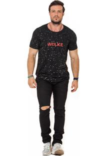 Camiseta Wolke Gola Careca Lavada Sky Night