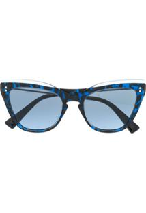 Valentino Eyewear Cat Eye Sunglasses - Azul