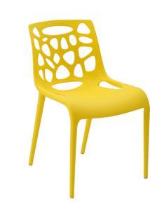 Cadeira Giovana Amarela Rivatti Móveis