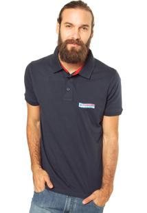 Camisa Polo Zebra Flag Azul Marinho