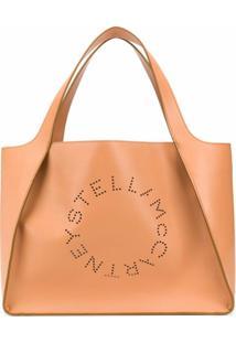 Stella Mccartney Bolsa Tote Com Logo Perfurado - Neutro