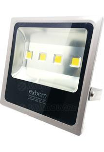 Refletor De Led 200W Bivolt Branco Frio 6500K Slim Ip65