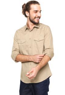 Camisa Colcci Bolsos Bege
