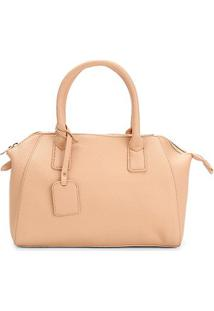 Bolsa Shoestock Handbag Feminina - Feminino-Nude