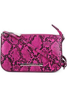 Bolsa Loucos & Santos Transversal Mini Bag Verniz Feminina - Feminino-Pink