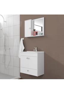 Conjunto Para Banheiro Catar Branco - Bechara Móveis