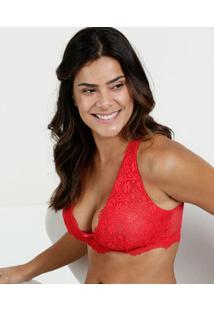 Sutiã Feminino Top Corpete Renda Nadador Marisa