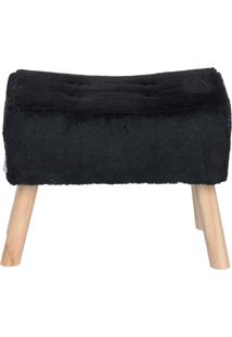 Puff Banqueta Fat Pelúcia - Stay Puff - Preto