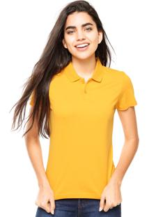 ... Camisa Polo Manga Curta Malwee Slim Amarela 942c6ceb17e6b