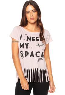 Camiseta Fiveblu Franjas Rosa