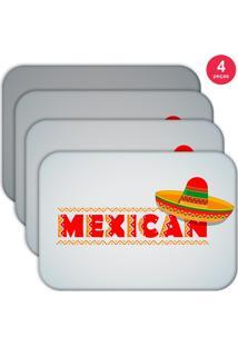 Jogo Americano Love Decor Wevans Mexican Kit Com 4 Pçs