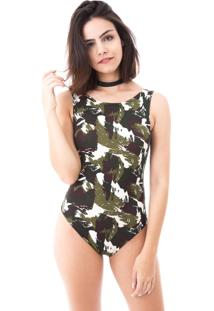 Body Moda Vício Militar Verde