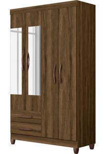 Guarda-Roupa Âmbar C/Espelho 4 Pts E 2 Gav Cedro Albatroz