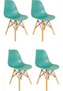 Kit 4 Cadeiras Eiffel Facthus Charles Eames Em Abs Tiffany, - Tricae