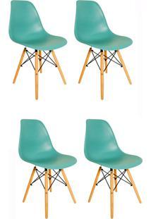 Kit 4 Cadeiras Eiffel Facthus Charles Eames Em Abs Tiffany
