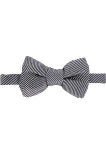 Tom Ford Gravata Borboleta Listrada - Cinza