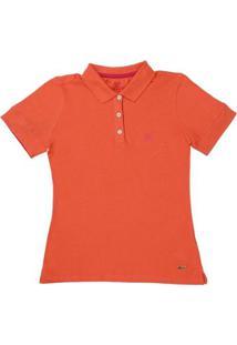 Camisa Polo Wrangler 22055 Feminina - Feminino-Laranja