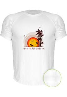 Camiseta Manga Curta Nerderia Summer Time Branco