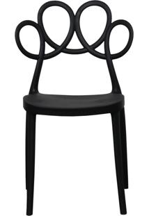 Cadeira Decorativa Para Cozinha Laço Preto - Gran Belo - Tricae