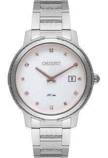Relógio Orient Eternal Feminino Pulseira De Aço Prata Fbss1171-S1Sx