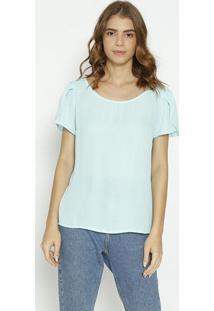 Blusa Texturizada Com Recortes - Verde Claromoiselle
