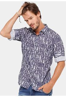 Camisa Coca Cola Estampada Manga Longa Masculina - Masculino