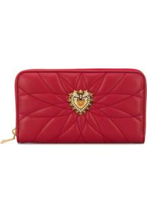 Dolce & Gabbana Carteira Com Textura 'Sacred Heart' - Vermelho