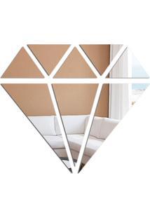 Espelho Decorativo Love Decor Diamond Prata