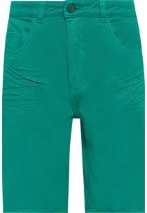Bermuda Masculina Casual E-Denim - Verde