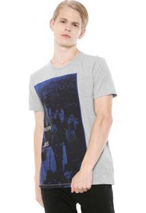 Camiseta Calvin Klein Jeans Ny Cinza