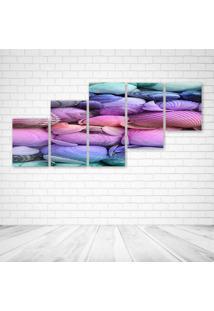 Quadro Decorativo - Mussels - Composto De 5 Quadros - Multicolorido - Dafiti