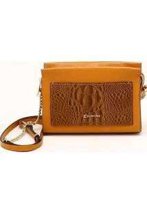 Bolsa Shoulder Bag Croco Toffee - P