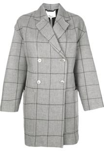 3.1 Phillip Lim Windowpane Cardigan Coat - Cinza