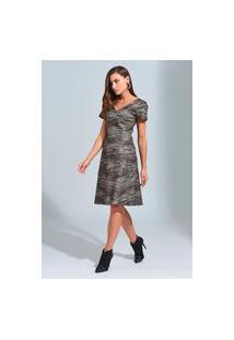 Vestido Ginestra Evasê Tweed - Gi-9596-Cinza
