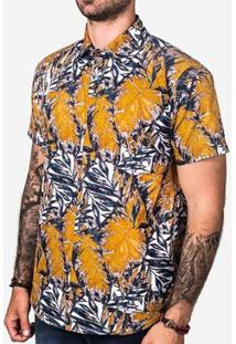 Camiseta Hermoso Compadre Leafs Masculina - Masculino-Amarelo