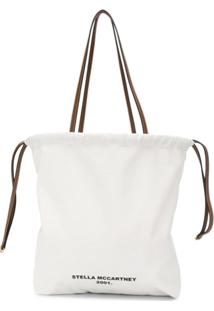 Stella Mccartney Bolsa Tote Com Estampa De Logo - Branco